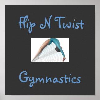 Flip N Twist, Gymnastics Posters