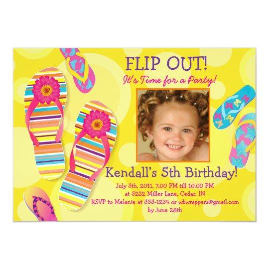 Flip Out! Flip-flops Party Invitation