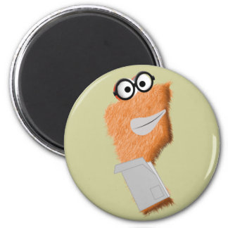 Flip the Scientist Magnet! 6 Cm Round Magnet