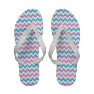 Flipflop Sandals: Pink, Lilac, Aqua Chevrons