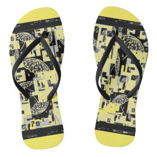 Flipflops for women Yellow,Black