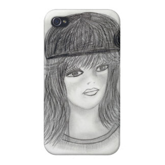 Flipped Hair Flapper Cover For iPhone 4