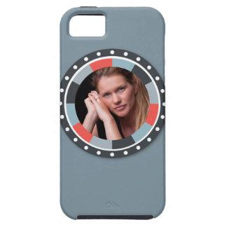 Flippiger Kreis frame2 - grau und Rot auf Grau iPhone 5 Covers
