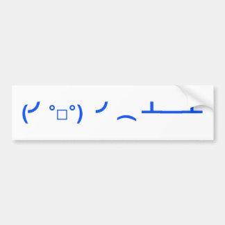 Flipping Tables Emoticon Meme Bumper Sticker