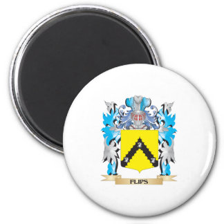 Flips Coat of Arms - Family Crest Magnets