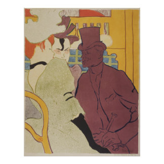 Flirt, Art Nouveau Poster by Toulouse-Lautrec