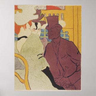 Flirt by Toulouse-Lautrec Vintage Lithograph Poster