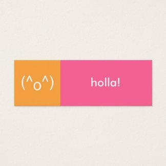 Flirt card pink orange holla emoticon text message
