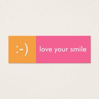 Flirt card pink orange love smile emoticon message