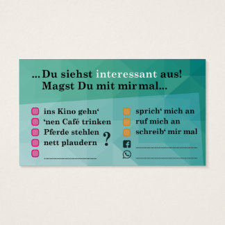 "Flirt map ""interesting…""; with Kontaktfeldern"
