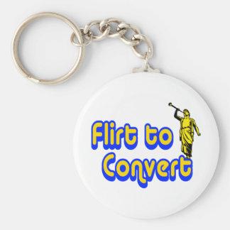 Flirt to Convert Basic Round Button Key Ring