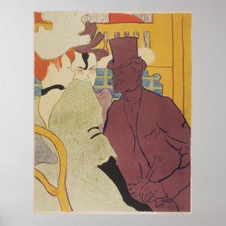 Flirt, Vintage Art by Toulouse-Lautrec Poster