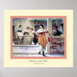 Flirtation at the Well ~ Eugene de Blass Poster