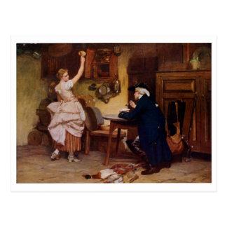 Flirtation by J Seymour Lucas Postcard