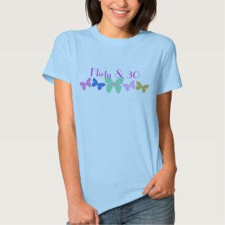 Flirty & 30, Butterflies in a row T-shirts