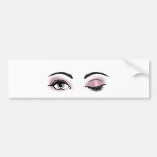 Flirty Eyes Bumper Sticker