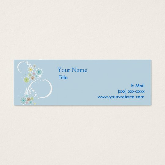 Flirty Floral Blue Calling Card
