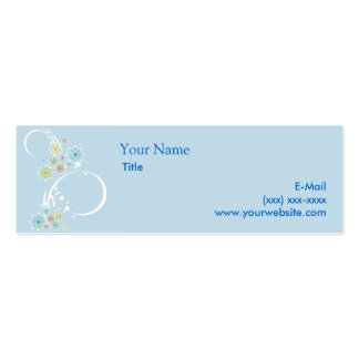 Flirty Floral Blue Calling Card Pack Of Skinny Business Cards