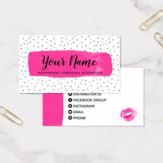 Flirty Fuchsia LipSense Business Card