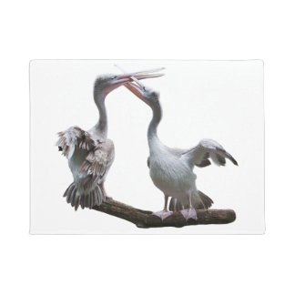 Flirty Pelicans Door Mat (choose colour)