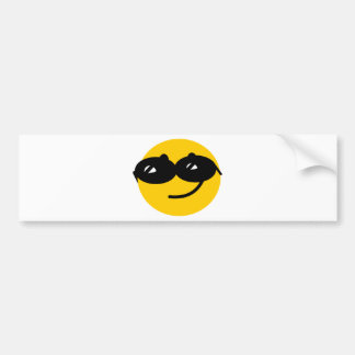 Flirty sunglasses smiley face bumper sticker