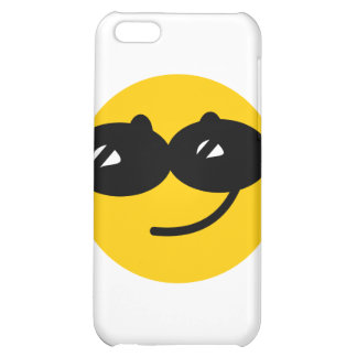 Flirty sunglasses smiley face case for iPhone 5C