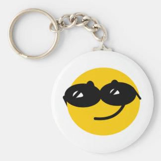 Flirty sunglasses smiley face key chain