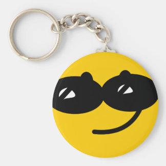 Flirty sunglasses smiley face key chains