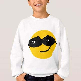 Flirty sunglasses smiley face sweatshirt