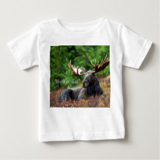 Flirty Wild Moose Photograph Alaska Wilderness Baby T-Shirt