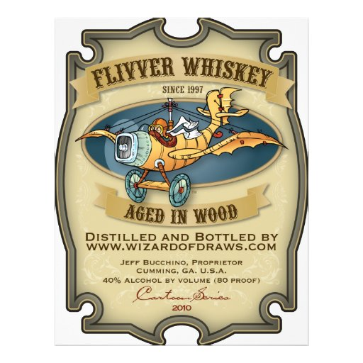 Flivver Whiskey Label Personalized Flyer