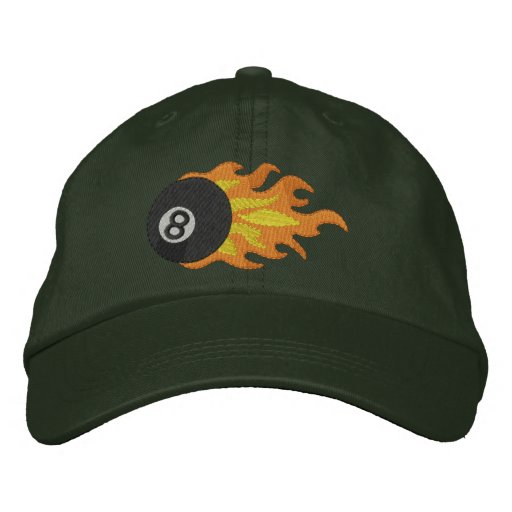 Flming 8-ball embroidered hat
