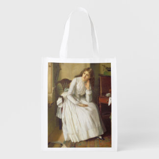 Flo Dombey in Captain Cuttle's Parlour Reusable Grocery Bag
