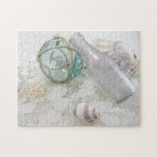 Float & Bottle on Sea Glass Jigsaw Puzzle