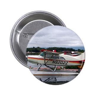 Float plane 12, Lake Hood, Anchorage, Alaska, USA 6 Cm Round Badge