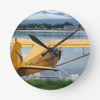Float plane 6, Lake Hood, Anchorage, Alaska, USA Round Clock