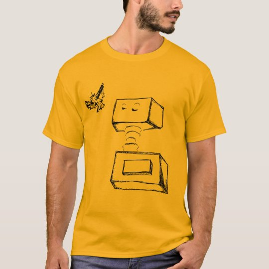 float robot in gold T-Shirt