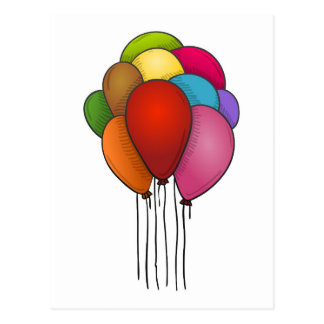 Floating Balloons Post Card