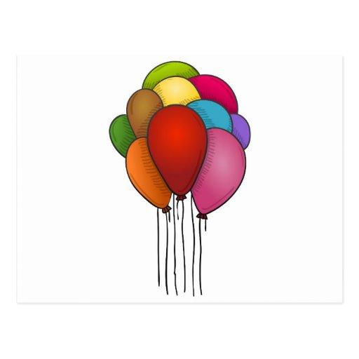 Floating Balloons Postcard