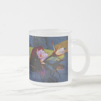 Floating Beauties (water lillies) frosted mug