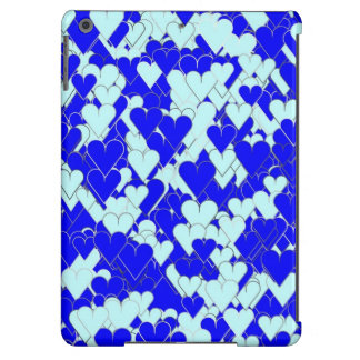 Floating Blue Hearts iPad Air Cases