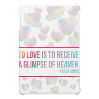Floating Bubble Hearts Cover For The iPad Mini