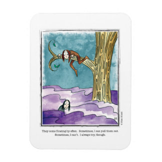 FLOATING BY cartoon by Ellen Elliott Rectangular Photo Magnet