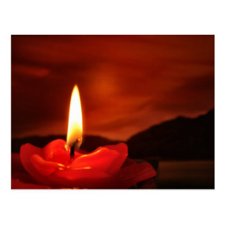 Floating Candle Postcard