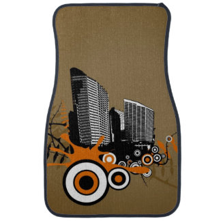 Floating city with plants car mat