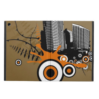 Floating city with plants iPad air case