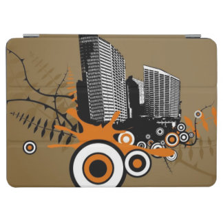 Floating city with plants iPad air cover