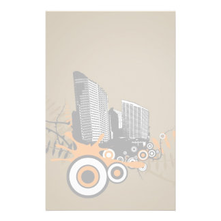 Floating city with plants stationery