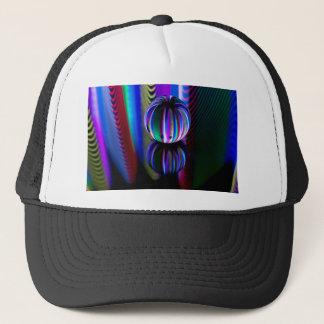 Floating crystal ball trucker hat