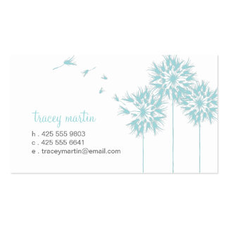 Floating Dandelion Calling Card Double-Sided Standard Business Cards (Pack Of 100)